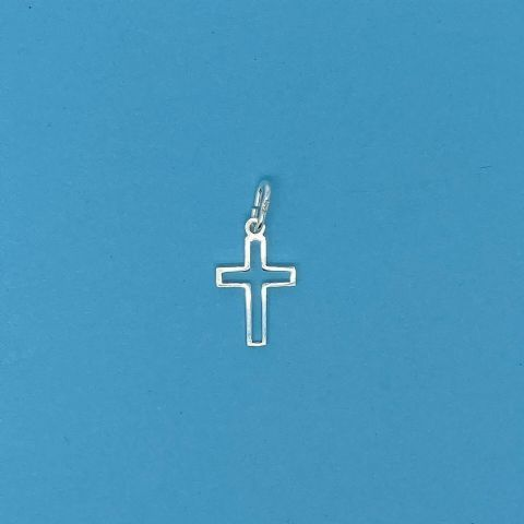 Genuine 925 Sterling Silver Small Cut Out Cross Pendant